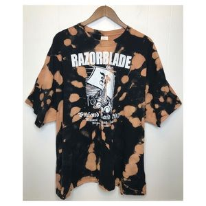 Other - Razorblade Spiral Bleach Dyed Oversized T-shirt
